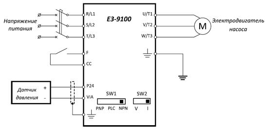 Схема преобразователя частоты е2-8300